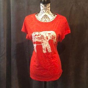 Elephant burnout style T-shirt
